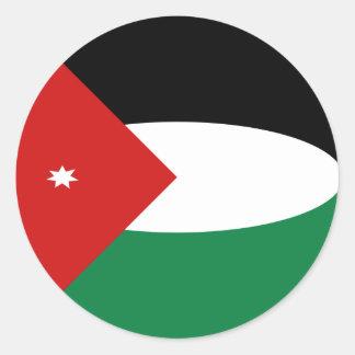 Klistermärke för JordanienFisheye flagga