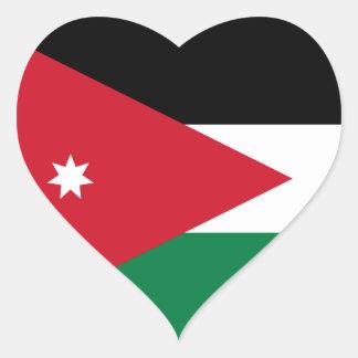 Klistermärke för Jordanienflaggahjärta