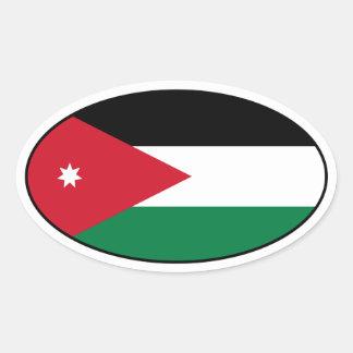 Klistermärke för JordanienflaggaOval