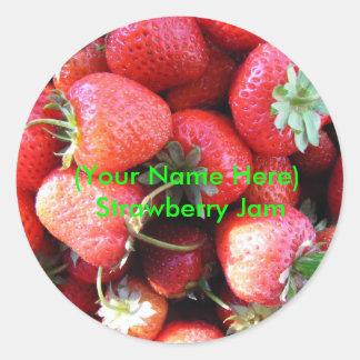 Klistermärke för jordgubbesyltetikett