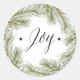 Klistermärke för jul för fredkärlekglädje