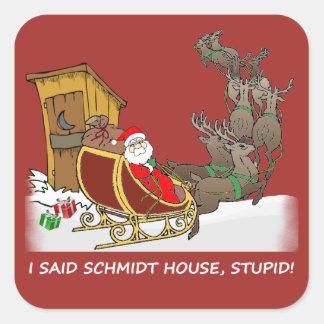 Klistermärke för jul för Schmidt hus rolig