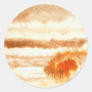Klistermärke för Jupiter planetvattenfärg