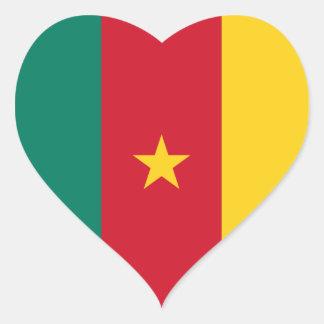 Klistermärke för Kamerunflaggahjärta