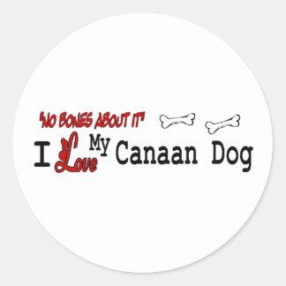 Klistermärke för Kanaan hund (jag älskar)