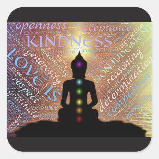 Klistermärke för kärlek för insikt för Buddha Zen