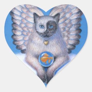 """Klistermärke för kattängel""""kattunge Yin Yang"""""""