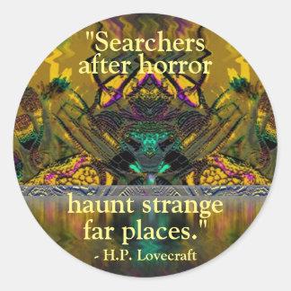 Klistermärke för konst för Lovecraft