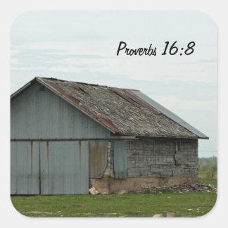 Klistermärke för ladugård för Proverbs16:8 gammal