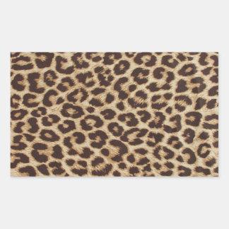 Klistermärke för Leopardtryckrektangel