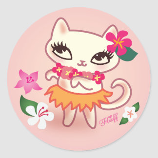Klistermärke för luddHula katt