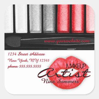 Klistermärke för Makeupkonstnär