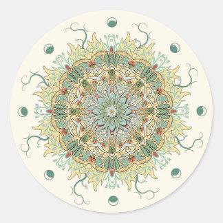 Klistermärke för Mandala för vintageMorris blomma