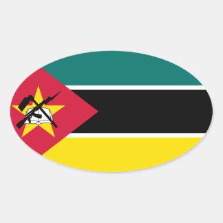 Klistermärke för Mocambique flaggaOval