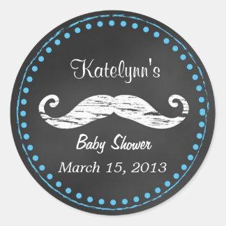 Klistermärke för mustaschbaby showerfavör