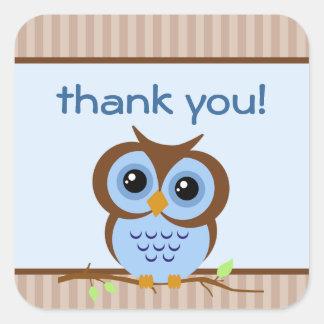 Klistermärke för Owly blåtttack