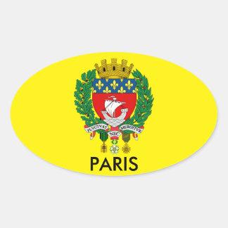 Klistermärke för Paris vapensköldOval
