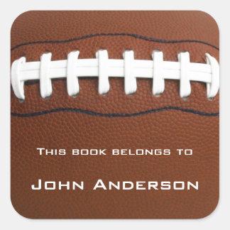 Klistermärke för personligfotbollbokägarmärke