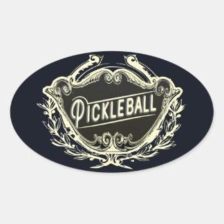 Klistermärke för Pickleball vintagestil