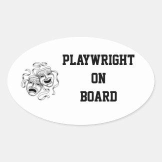 Klistermärke för Playwright ombord