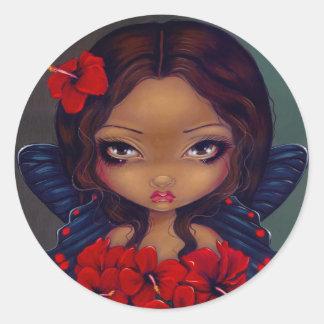 """Klistermärke """"för röd hibiskusfe"""""""