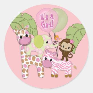 Klistermärke för runda för baby shower för