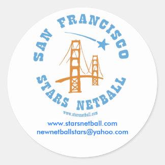 Klistermärke för runda för klubb för San Francisco