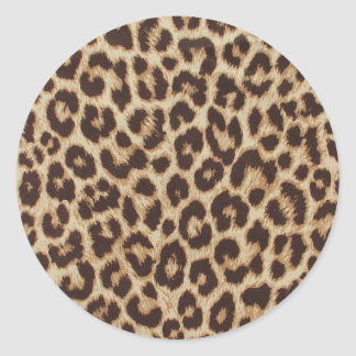 Klistermärke för runda för Leopardtryckklassiker