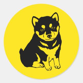 Klistermärke för runda för Shiba Inu kinesisk