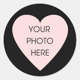 Klistermärke för Scribbleprint svart hjärtagräns
