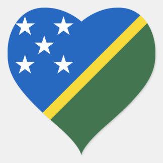 Klistermärke för Solomon Island flaggahjärta