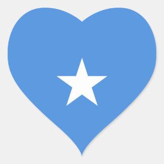 Klistermärke för Somalia flaggahjärta