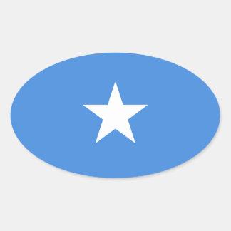 Klistermärke för Somalia flaggaOval