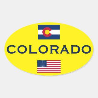 Klistermärke för stil för Colorado europé oval