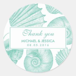 Klistermärke för tack för bröllop för
