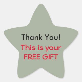 Klistermärke för tack (fri gåva)