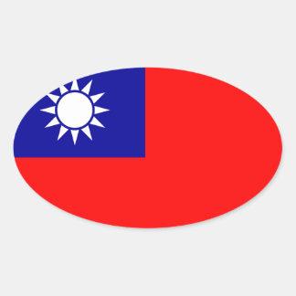 Klistermärke för Taiwan* flaggaOval