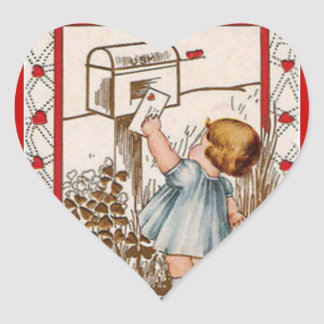 Klistermärke för valentin för vintageliten