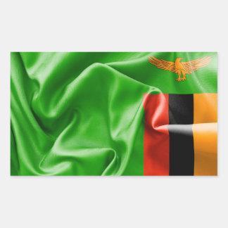 Klistermärke för Zambia flaggarektangel