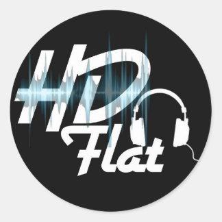 Klistermärke*HD Flat* Runt Klistermärke