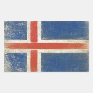 Klistermärke med bekymrad flagga från island