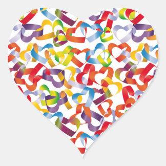 Klistermärke med dekorativt seamless med hjärtor