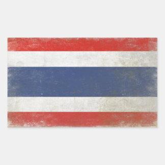 Klistermärke med den bekymrade Thailand flagga