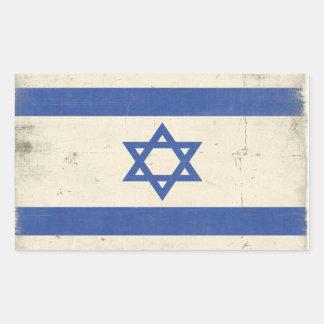 Klistermärke med den kalla bekymrade Israel flagga