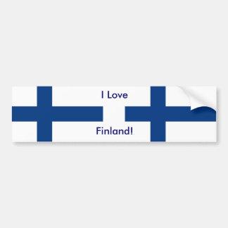 Klistermärke med flagga av Finland