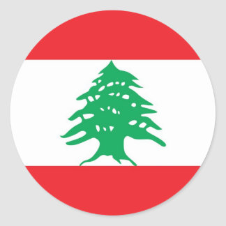 Klistermärke med flagga av Libanon