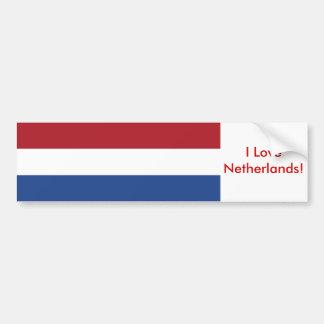 Klistermärke med flagga av Nederländerna