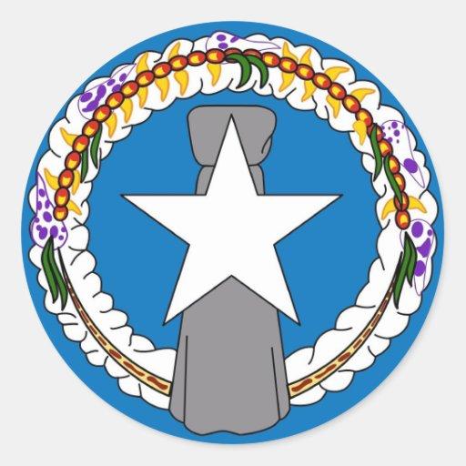 Klistermärke med flagga av Northern Mariana Island