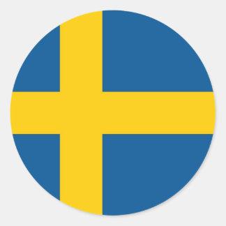 Klistermärke med flagga av sverigen
