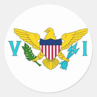 Klistermärke med flagga av Virgin Islands
